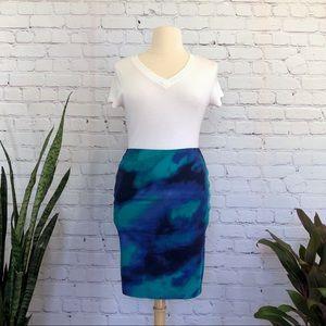 Jones Wear Tye Dye Pencil Skirt